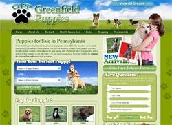 Latest Site Launch - Greenfield Puppies - MIND Development & Design, LLC
