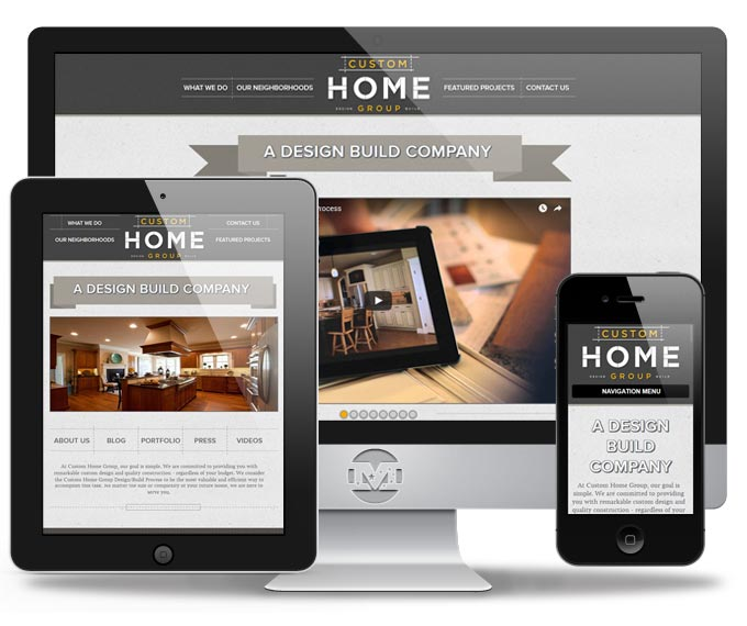 Custom Home Group - Website by MIND