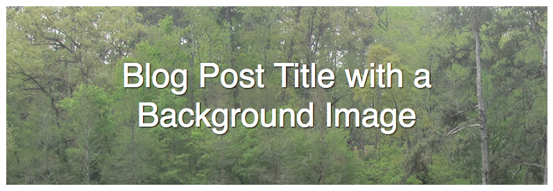 How to Set the Featured Image as a Background Image in WordPress