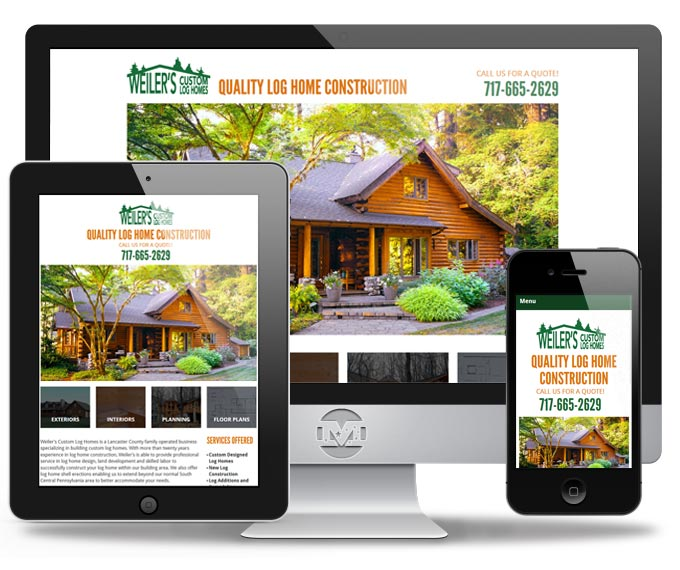Weilers Log Homes - Website by MIND