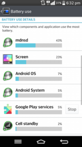 remove mdnsd from android device