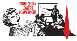 poor design lowers conversions