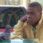 Tracy Jordan Looking at a Pigeon