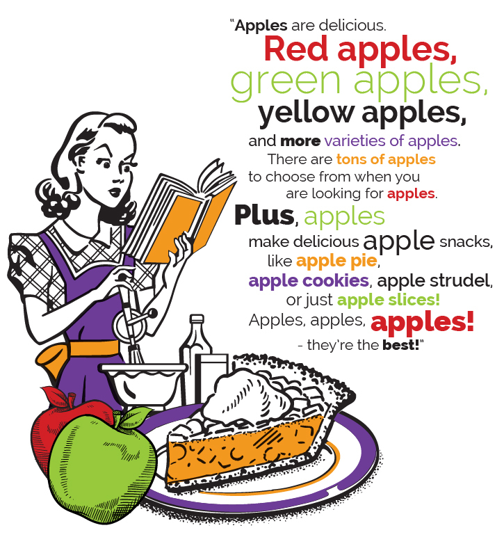 example of keyword stuffing using apples