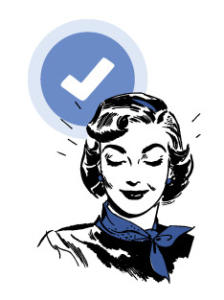 woman with check mark to represent facebook page verification