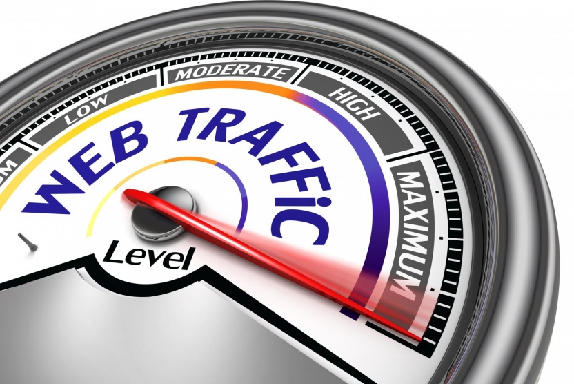 drive traffic to website - meter set to maximum