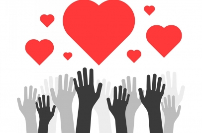 hands reaching for hearts