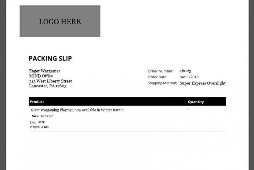fake packing slip with missing metadata