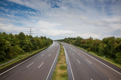 empty six-lane interstate