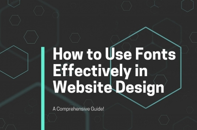 how to use fonts effectively in website design