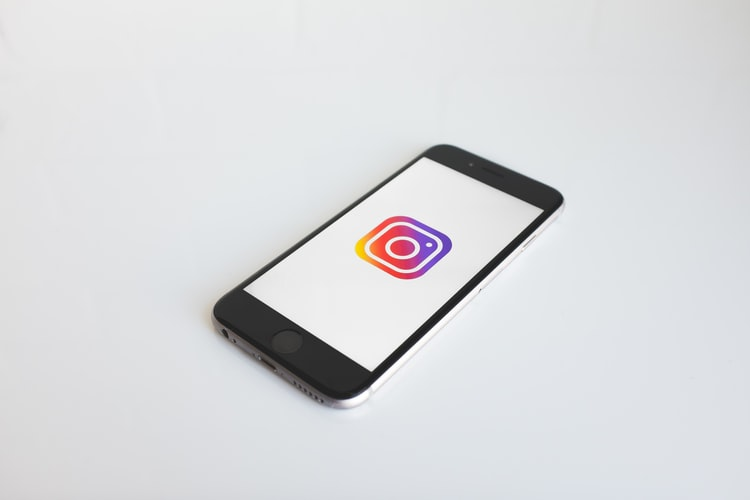 Instagram icon on a phone screen